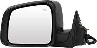 SCITOO Driver Left Side Mirror Flat Side View Mirror Fits for 2011 for Jeep Grand Cherokee Power Control Heated Manual Folding 1NT49AXRAI CH1320330