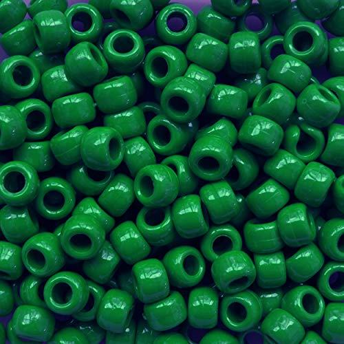 GREEN CROW BEADS PONY BEADS
