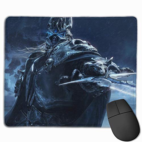 Cojín De Escritorio Personalizado World of Warcraft Alfombrilla Antideslizante para Escritorio con Base De Goma, Alfombrilla De Ratón para Juegos para Oficina, Computadora, PC