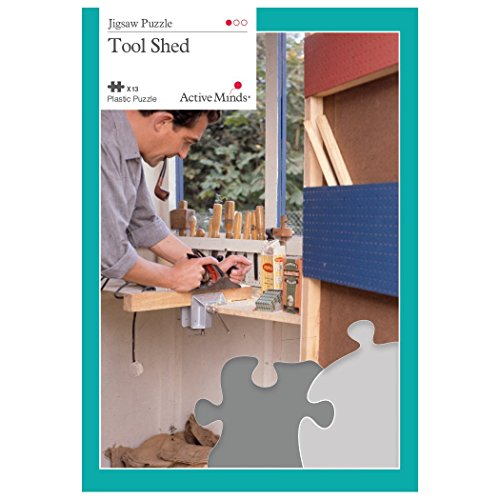 Active Minds 13 Piece Jigsaw Puzzle Set: Specialist Alzheimer's / Dementia Activities and Games (Tool Shed)
