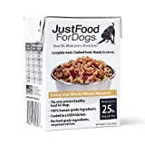REAL FOOD FOR DOGS - Human-edible Ground Turkey & Liver, Whole Wheat Macaroni, Carrots, Zucchini, Broccoli, Cranberries, Cod Liver Oil, & JFFD's vet-developed Nutrient Blend. WHOLE-FOOD INGREDIENTS – This is not dog food. It is food. For dogs. And ev...