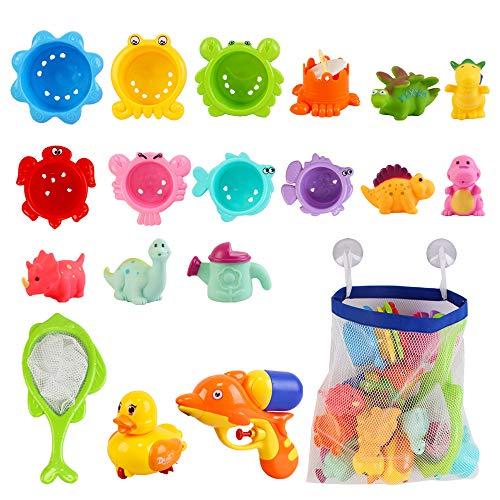 deAO Conjunto Juguetes para Hora del Baño Infantil Muñecos