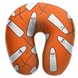 Regalo Ideal Tampones Kawaii Almohada de Cuello Naranja Cómodo Soporte de Cabeza de Almohada Cervical Suave en Forma de U para Oficina de Viajes Coche para Dormir y fácil Limpieza