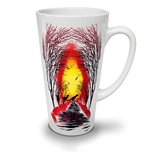 Wellcoda Kamin Wald Natur Latte BecherKlassisch Kaffeetasse - Komfortabler Griff, Zweiseitiger Druck, robuste Keramik