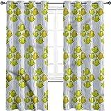 Cortinas opacas para acuario, aislamiento de juntas, líneas remolinadas, peces exóticos, tres capas trenzadas reducción de ruido, cortina de cortina superior de 72 x 72 pulgadas