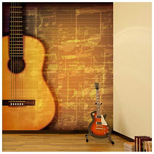 azutura Gitarren- & Musikblatt Fototapete Vintage Musik Tapete Schlafzimmer Haus Dekor Erhältlich in 8 Größen Extraklein Digital
