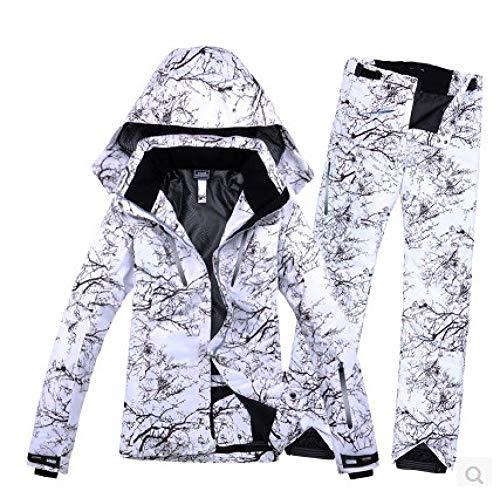YRFDM Skianzug,Winter Impression Herren Skianzug Super Warme Kleidung Skifahren Snowboard Anzug Set Winddicht Wasserdicht Outdoor Sportbekleidung, Cypress, XL