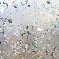 OUPAI 窓フィルム プライバシーウィンドウフィルム、装飾ウィンドウフィルムウィンドウクリングフィルムスタティッククリングウィンドウフィルムアンチUVいいえ接着剤ホームオフィス用ヒートコントロール35インチ×16フィート ガラスフィルム (Color : A, Size : 24inch × 7feet)