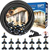 Misters for Outside Patio, 50FT Outdoor Misting System. Patio Mister for Cooling. Water Mister Hose for Fan, Umbrella, Deck, Canopy, Pool,Backyard. Porch Mister Systems for Garden. Yard Mist Hose