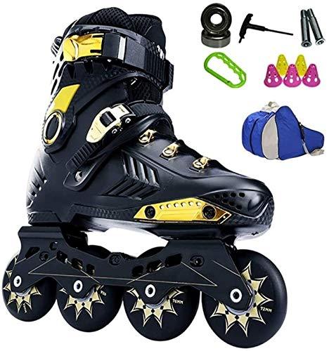Patines en línea Rodillo Ajustable Adulto Fitness 4 ruedas en línea patinaje patines hombres y mujeres patines al aire libre patines para niños niña patines patines de patinaje 35 - 44 Protección Comp