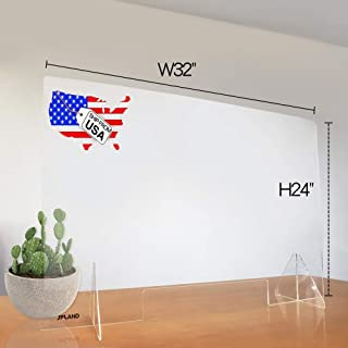 """Sneeze Guards-Desk Partitions Portable Acrylic Plexiglass Countertop32""""x 24"""" with Transaction Window for Offices and Stor..."""