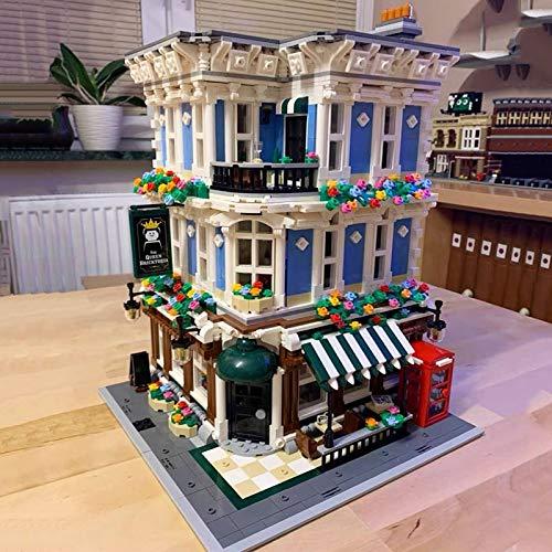 JINSUO Creator Expert 3656pcs City Street View Ideas The Queen Bricktoria Bar modular modelo Moc bloques de construcción (color: Queen Bricktoria)