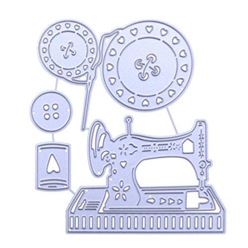 Residen Dies for Die Cutting- Scrapbooking DIY Wedding Invitation Album Paper Card Craft Embossing Die Cut Tools (Sewing machine (A:10295mm))