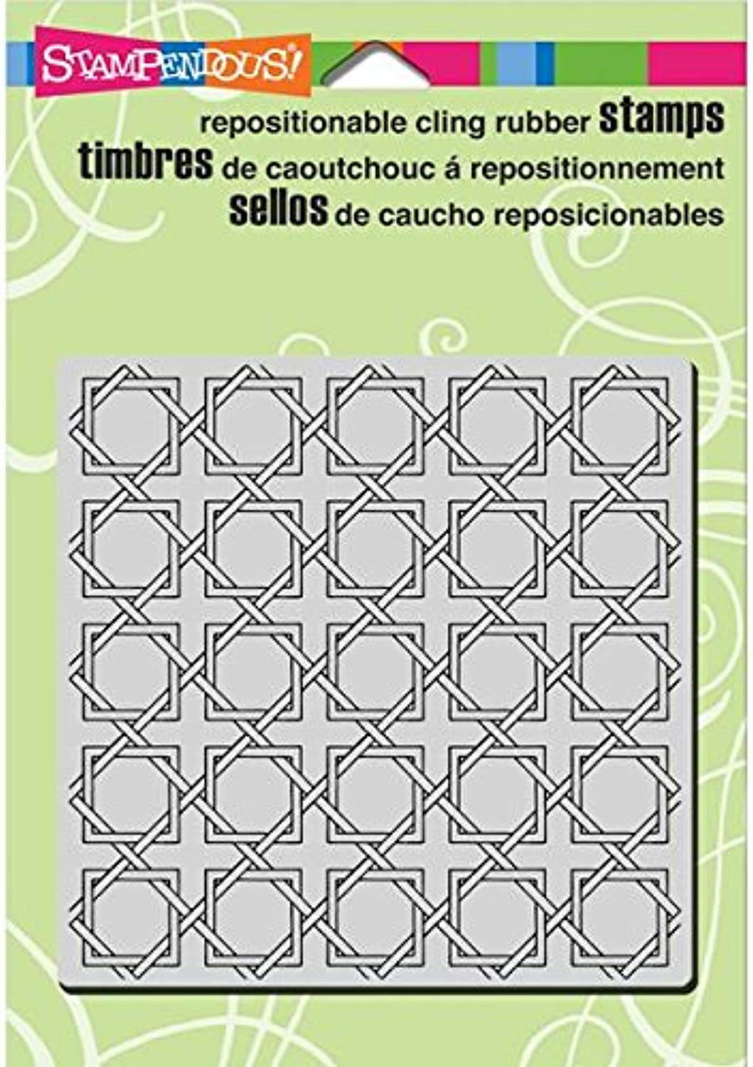 Stampendous Cling Rubber Stamp 5.5 X4.5  SheetRattan Weave