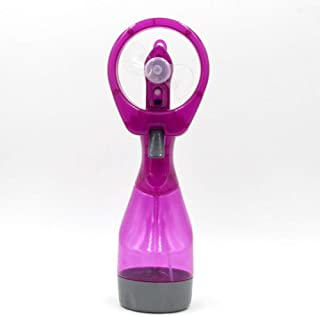 Xuxuou Ventilador de la Batería de Mano con Agua de Pulverización Refrigeración Humidificador portátil size 9.5 * 7 * 26.5cm (Púrpura)