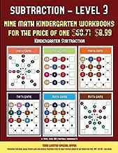 Kindergarten Subtraction (Kindergarten Subtraction/Taking Away Level 3): 30 full color preschool/kindergarten subtraction worksheets (includes 8 printable kindergarten PDF books worth $60.71)