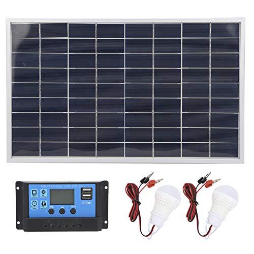 Mxzzand Cargador de batería Controlador Solar de Panel Solar policristalino Ligero y ecológico para vehículos turísticos utilizados en los Coches del Club para Acampar(10A)