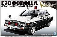 青島文化教材社 1/24 ザ・ベストカーヴィンテージシリーズ No.36 トヨタ E70系 カローラセダン 前期型 パトロールカー プラモデル