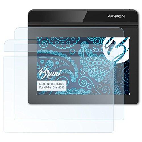 Bruni Película Protectora Compatible con XP-Pen Star G640 Protector Película, Claro Lámina Protectora (Set de 2)