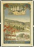 Versailles Poster Bahnhof invalidids, Format 50 x 70 cm,