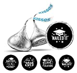 Darling Souvenir Las etiquetas de chocolate-Negro besos de cariño DIY 190 piezas de graduación temático pegatinas Hershey