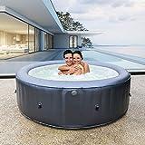 Miweba MSpa aufblasbarer Whirlpool Muse Carlton M-CA061 für 6 Personen - kraftvolle Hydro-Massagedüsen - inkl. Ozongenerator & UV-C Wasserreinigung…