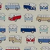 Plüsch Addict VW Wohnmobile–Blau–Vorhang