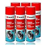 Genuine Wurth freno limpiador disolvente en aerosol spray 500 ml x1