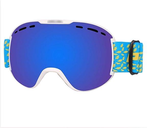 Lunettes de Ski Professionnelles Lunettes de grimpe en Plein air Myopia Adulte Double Lunettes de Ski Anti-buée 18  10cm Vert LJJOZ (Couleur   B)