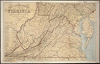 Gifts Delight Laminated 27x17 Poster  Map of The State of Virginia Zoom into This mapa atNicholson W L.Date 1863Location Atlanti