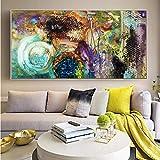 YuanMinglu Art Abstrait Nuage coloré Toile Peinture Murale Salon Affiche et Impression sur Toile Art déco Image Peinture sans Cadre 30x60 cm