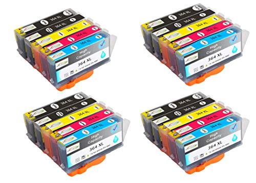 Reemplazo de Paquete de 20 Wintinten para Cartuchos de Tinta HP 364 364XL compatibles con impresoras HP Photosmart C5324, C5370, C5373, C5380, C5383, C5388, C5390, C5393, C6300, C6324, C6380
