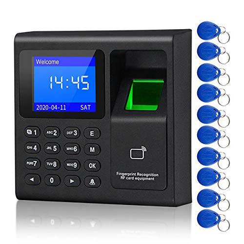 CIFY Aktualisiert 1,8 Zoll biometrischer Fingerabdruck Zeiterfassungssystem Uhrenrekorder Aufzeichnungsgerät Elektronische Maschine F30