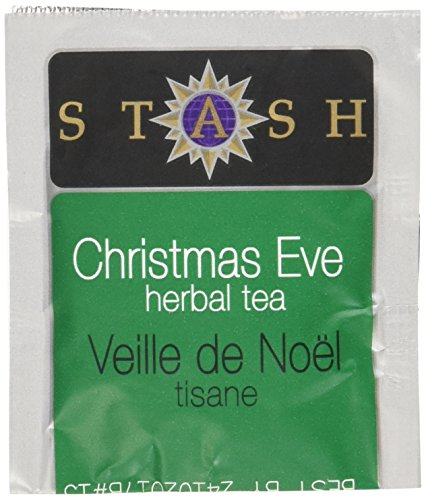 Stash Tea Christmas Eve Herbal Tea 100 Count Tea Bags in Foil (packaging may vary) Individual Spiced Herbal Tea Bags for Use in Teapots Mugs or Teacups, Brew Hot Tea or Iced Tea