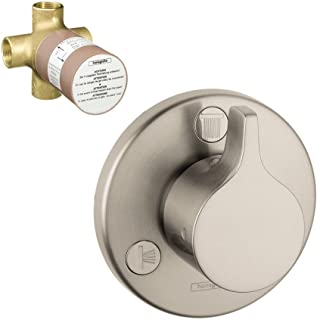Hansgrohe K04354-15930BN-2 E/S Trio/Quattro Trim with 3-Way Diverter Rough-In, Brushed Nickel