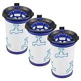 Piezas de Repuesto de la aspiradora 3 unids Accesorios de aspiradora Accesorios Piezas de Filtro Ajuste para Rowenta Air Force 360 RH9015WO Accesorios de aspiradora (Color : White)