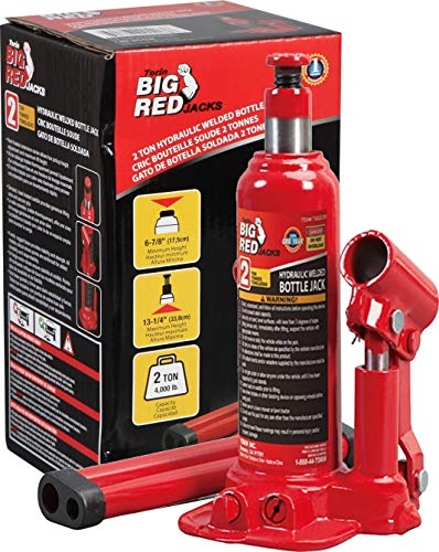 BIG RED TAM90203B Torin Hydraulic Welded Bottle Jack, 2 Ton (4,000 lb) Capacity, Red