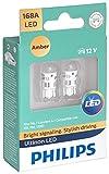 Philips 168ALED Ultinon LED Bulb (Amber), 2 Pack