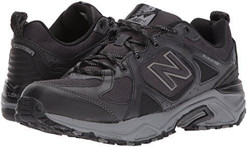 New Balance Men's 481 V3 Trail Running Shoe, Black/Grey, 10 M US 7
