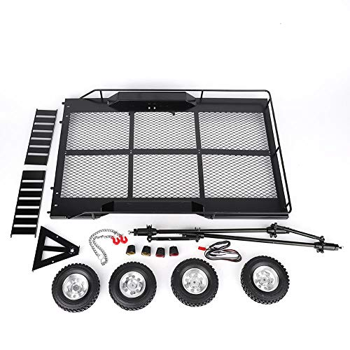 RC Trailer, Trail Car Toy Set Flatbed Trailer Metal Model Vehicle Hopper for RC Car