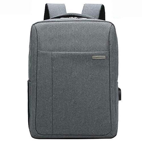 ZXL herenrugzak - Business Travel Bag - Laptoptas - USB extern laden, zwart/blauw/donkergrijs/lichtgrijs 15.6 inches dark gray
