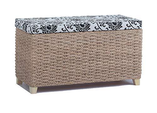Büloo - Banco para pie de cama, taburete con tapa plegable para...