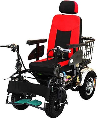 WYRRJ Elektro-Rollstuhl Intelligenter Leichtbau Faltbare Elektro-Rollstuhl, Compact Power Stuhl, Leichtklapp Carry...