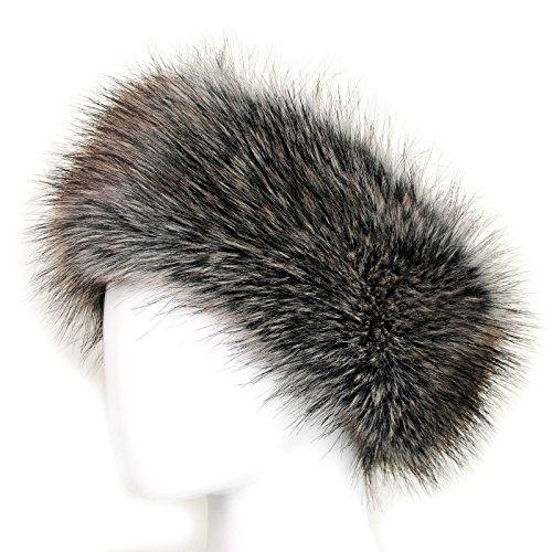 KGM Accessories Bandeau en fausse fourrure 10cm wide marron