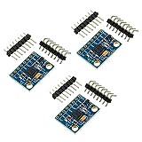 WayinTop 3pcs GY-521 MPU-6050 3 Axis Gyroscope and 3 Axis Accelerometer 6DOF Sensor Module 16 Bit AD Converter Data Output IIC I2C for Arduino