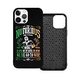 N / A Conor McGregor 'Notorious' Handyh¨¹lle iPhone 12 PC Material Unisex para proteger la pers?nlichkeit del teléfono a prueba de polvo iPhone 12 Pro-6.1