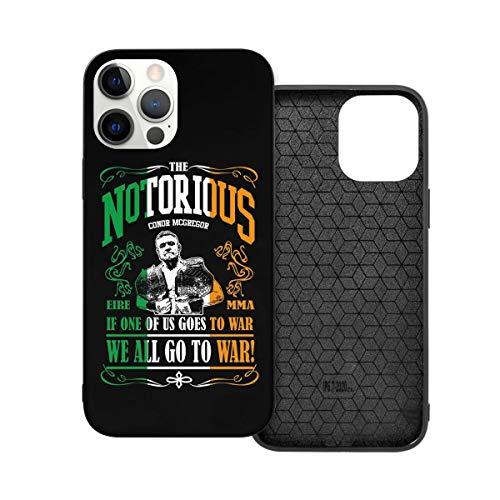 N / A Conor McGregor 'Notorious' Handyh¨¹ Lle iPhone 12 PC Materiale Unisex per proteggere la persistenza del telefono resistente alla polvere Iphone12mini-5.4