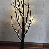 Beleuchteter Birke Baum, 24 LED Zweig Schnee Baum mit Beleuchtung Dekorative Zweige Baum...