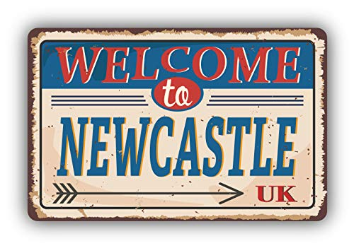 Newcastle City United Kingdom Retro Vintage Emblem - Self-Adhesive Sticker Car Window Bumper Vinyl Decal Hochwertiger Aufkleber