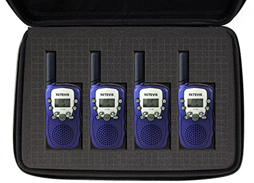 DURAGADGET Custodia Personalizzabile per Walkie Talkie Retevis RT-388 / RT-602 / RT-628 / Baofeng BF-888S / Floureon/Motorola TLKR T81 / T80 / T60 / T50 / T40 / Quadpack - con Tracolla + Maniglia